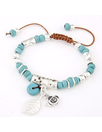 Cocktail Blue Beads Decorated Multi-element Design Alloy Korean Fashion Bracelet
