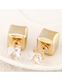 joker Gold Color Diamond Decorated Sqaure Shape Design