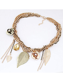 Popular Gold Color Tassel Decorated Hollow Out Design