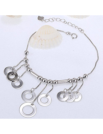 Charming Silver Color Round Shape Decorated Tassel Design Cuprum Fashion Bracelets