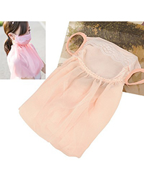 Concealed Snow Tooth Color Neck Sunscreen Dust Proof Anti-Uv Large Design Chiffon Face Mask