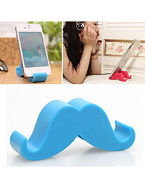 Define blue beard shape simple design ABS Phone holder