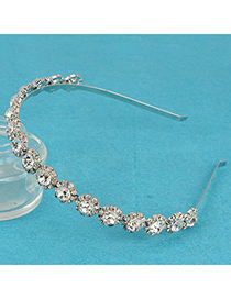 Slim Silver Color Full Of Big Diamond Decorated Alloy Hair band hair hoop
