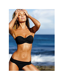 Infinity Black Push Up Strapless Design Polyamide Fibre Sexy Bikini