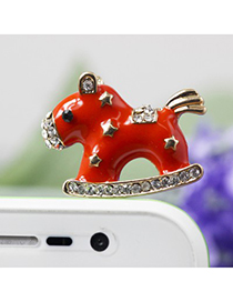 Plain red horse design star decorated alloy Mobile phone products
