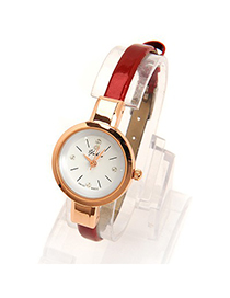 Awesome red diamond decorated simple design electronic Ladies Watches
