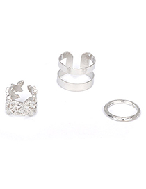 Best silver color leaf decorated hollow out design (3 pcs set)