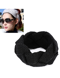 Tall black twist weave simple design wool Hair band hair hoop