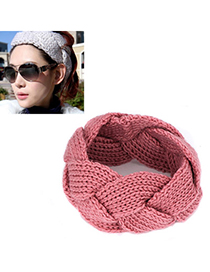 Propper pink twist weave simple design wool Hair band hair hoop
