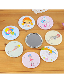 Pewter Color Will Be Random Cartoon Pattern Simple Design Alloy Beauty tools