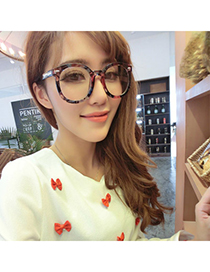 Affordable Multicolor Flower Pattern Decorated Plain Design Resin Fashon Glasses