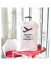 Western White Aircraft Pattern Simple Design Non-woven Household goods