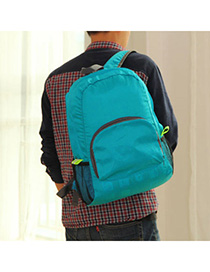 Circle Blue Multifunction Foldable Design Nylon Backpack
