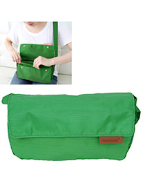 Turquoise Green Pure Color Simple Design Nylon Messenger bags