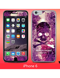 Current Multicolor Skull Pattern Simple Design (6) Leather Iphone 6