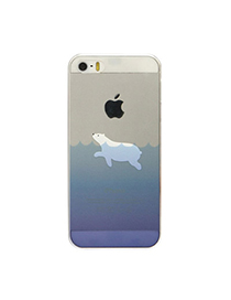 Infinity White & Blue Polar Bear Pattern Simple Design (5/5s) Tpu Iphone 5 5s