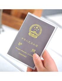Goth Transparent White Simple Design Pvc Household goods