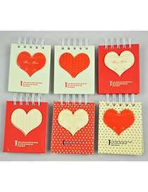 Monarchy Red Heart Pattern Simple Design Paper Scratch Pad Sticky
