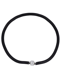 Fantasy Black Diamond Decorated Simple Design Alloy Korean Necklaces