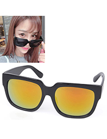 Hipster Gold Color Arrows Shape Thin Legs Design Resin Women Sunglasses