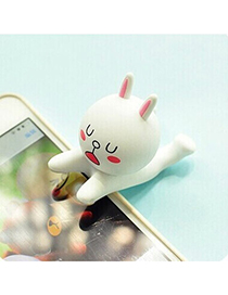 Skeleton White Rabbit Shape Simple Design Silicone Phone holder