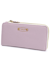 Urban Pink Classic Letter Pattern Simple Design Pu Wallet