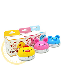 Security Random Color Animal Shape Timer Simple Design Plastic Household Goods