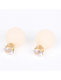 candy color Beige Round Shape Decorated Simple Design