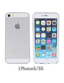 casual Transparent White Pure Color Simple Design Silicone Iphone 5 5s