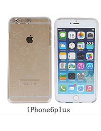 contracted Transparent White Snowflake Pattern Simple Design Pc Iphone 6 Plus