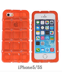 latest Transparent Orange Ice Block Shape Simple Design Pc Iphone 5 5s