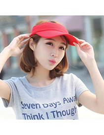 trendy Red Pure Color Empty Top Shape Design