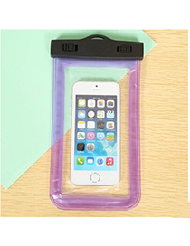 transparent Purple Rectangle Shape Waterproof Case Design