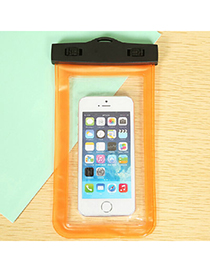 Transparent Orange Rectangle Shape Waterproof Case Design Pp Household Goods