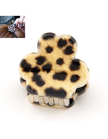 Lovely Yellow Leopard Pattern Simple Design Alloy Hair Band Hair Hoop