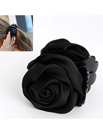 Elegant Black Rose Shape Decorated Simple Design