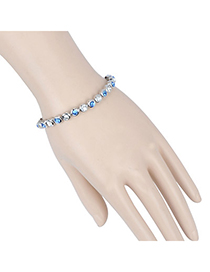 Top Rated Silver Color & Blue Diamond Decorated Round Shape Design