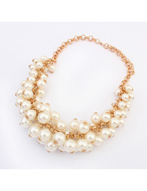Discount White Multilayer Pearl Decorated