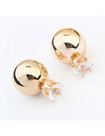 Lace Gold Color Diamond Decorated Round Shape Design