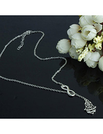 Heather Silver Color Little Hand Shape Decorated Simple Design