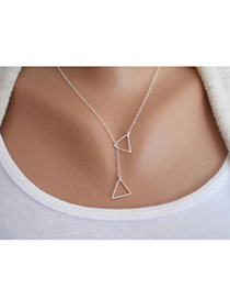 2013 Silver Color Triangle Shape Decorated Simple Design