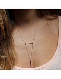 Easter Gold Color Triangle Shape Simple Design Alloy Chains