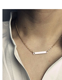 Exquisite Gold Color Pure Color Simple Design Alloy Chains