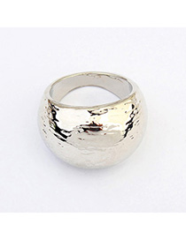 Fashion Antique Silver Pure Color Simple Design Alloy Korean Rings