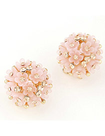 Lovely Pink Diamond Decorated Flower Design