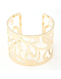Joker Gold Color Leaf Shape Decorated Hollow Out Design
