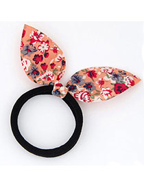 Sweet Orange Flower Pattern Decorated Bowknot Shape Design Fabric Hair band hair hoop