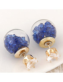 Brilliant Blue Diamond Decorated Round Shape Design