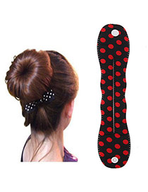 Preferential Black Dot Pattern Hairdisk Design  Fabric Beauty tools