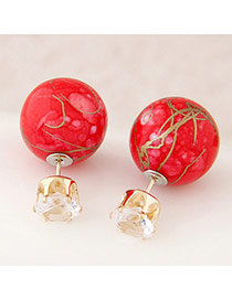 Candy Color Red Round Shape Decorated Simple Design